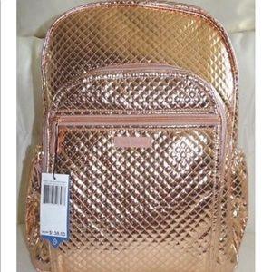 Vera Bradley New Rose Gold Shimmer Backpack